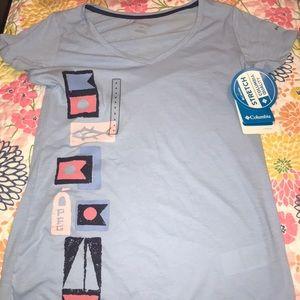 NWT Columbia/PFG Light Blue T-shirt